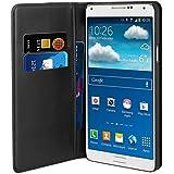 Muvit MUSNS0109 Etui folio portefeuille pour Samsung Galaxy Note 4 Noir
