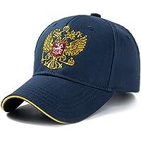 YUANCHENG Gorra de béisbol al Aire Libre de algodón Emblema Ruso Bordado Snapback Sombreros Deportivos para Hombres y Mujeres Gorra Patriota Azul Marino