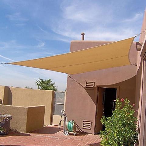 Tenda da sole rettangolare 6x 6Metre colore beige protezione UV 95%