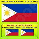 Philippines Sun Sticker Flag Bumper Water Proof Vinyl Auto