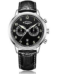 Rotary Herren-Armbanduhr Chronograph Quarz Leder - GS00338/19