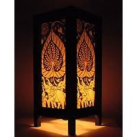 Raro Asia Thai lampada di tavole Buddha stile comodino elefante albero della vita per Tailandia