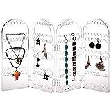 Plegable acrílico Protector de joyería pendientes soporte Rack 240agujero expositor para pendientes organizador