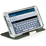 StilGut UltraSlim Case V2, Hülle Tasche mit Stand- und Präsentationsfunktion für Samsung Galaxy S5 & S5 neo, weiß vintage