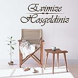 Islamische Wandtattoos - Meccastyle - Evimize Hosgeldiniz - A411