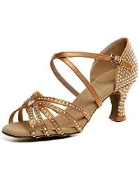 De primavera y verano diamante zapatos de baile de señoras/Mujer latina zapatos de baile/ los zapatos de show