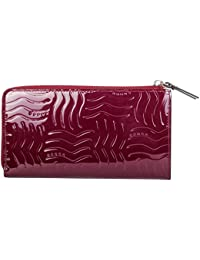 Cross® Women's 100% Genuine Leather Zip Around Wallet with Gusset-Purple