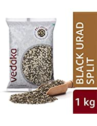 Amazon Brand - Vedaka Premium Black Urad Split/Chilka, 1 kg