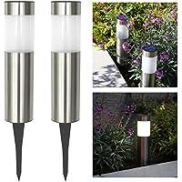Lámpara de exterior grande con panel solar, de Frostfire, 2 unidades