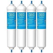 4X AQUACREST DA29-10105J NSF Certified Fridge Water Filter, Compatible with Samsung Aqua-Pure Plus(only external)DA29-10105J DA99-02131B HAFEX/EXP DA2010CB 5231JA2010B Wpro USC100/1 USC100 WSF-100(4)