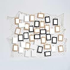 Papierrahmen-Set mit Klammern und Schnur farblich sortiert
