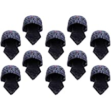 SM SunniMix 10 Unids Soldadores Azules Tipo de Pañuelo Protector Capucha Soldador Sombrero Casco de Soldadura