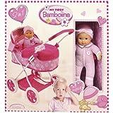 Dimian - My First Bambolina, muñeca con cochecito, color rosa y blanco (Claudio Reig FB908-103WB)