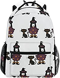 COOSUN Brujas y gatos informal Daypack Escuela Mochila bolsa de viaje Multicolor