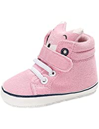 SHOBDW Boys Shoes, Toddler Baby Girl Boys Autumn Winter Keep Warm Fox Hight Cut Sneaker Anti-Slip Soft Sole Shoes