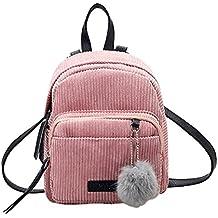 Mochila de mujer Switchali Mujeres Estudiante Casual Bolso de Escuela Moda Pana Mochila Bolsas de Viaje pequeña mochila mochila escuela libro Bolso de hombro de mujer baratos