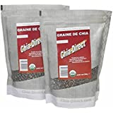 2KGs graines de chia naturelles, 100% libres de pesticides