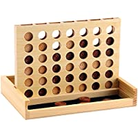 Classic Score 4 - Connect Four Game, Have Wonderful Family Fun with a Connect 4 Game - Handmade Wooden Games Since 1795 - Jaques of London
