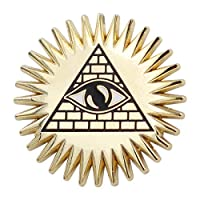 Real Sic Occult Pyramid & Eye Enamel Pin Mason Pin - Masonic Lapel Pin