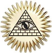 Real Sic Occult Pyramid & Eye Enamel Pin Mason Pin - Masonic Lapel