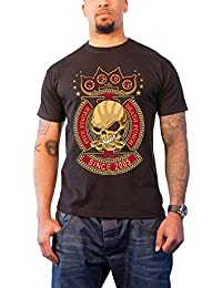 Five Finger Death Punch Mens T Shirt Black Anniversary X Band Logo Official