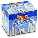 Jovi 152699 - craie couleur monochrome blanc - Boîte de 100 unités
