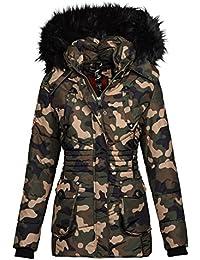 66b446ab94f1 Marikoo Designer Damen Winter Jacke Parka Mantel Teddyfell warm gefüttert  B368