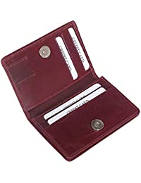 Style98 Unisex Leather Thin Credit Card Case Travel Wallet
