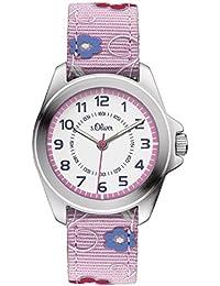 s.Oliver Mädchen-Armbanduhr Analog Quarz Textil SO-3175-LQ