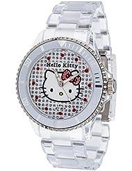 Hello Kitty Mädchen-Armbanduhr Nichinan Transparant Analog Quarz Plastik HK1464-040