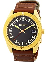 Nixon Herren-Armbanduhr XL Rover Surplus / Gold Analog Quarz verschiedene Materialien A3551432-00