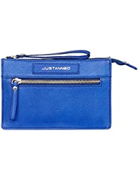 JUSTANNED WOMEN'S BLUE LEATHER WALLET