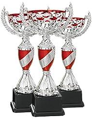 DEPICE trofeo Serie, Plata/Rojo, 17–21cm, TRO de FS–0111