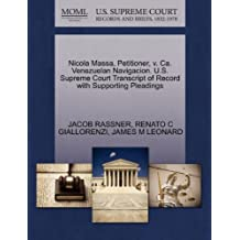 Nicola Massa, Petitioner, v. Ca. Venezuelan Navigacion. U.S. Supreme Court Transcript of Record with Supporting Pleadings
