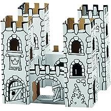 MS Importhandel und Agentur B 2601x Palacio del dragón - Palacio de cartón para colorear y montar (incluye 12 rotuladores de colores)