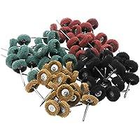 80 piezas muela abrasiva pulido rueda de pulir conjunto rueda de pulido con caja libre para Dremel herramienta rotativa paño de muelas conjunto de 3mm manejar nylon cepillado cabeza de pulido