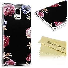 Mavis 's Diary Case para Samsung Galaxy Note 4Funda paddelsurf patrón pc Hardcase plástico Protective Decoración Funda Case Carcasa Trasera Scratch Teléfono de buzón Teléfono Móvil Funda Cover Caso euit Bumper