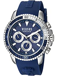 Versus by Versace Men's 'ABERDEEN' Quartz Stainless Steel and Rubber Casual Watch Color:Blue (Model: S30040017)