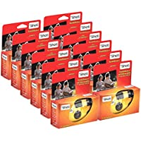 TopShot 400 cámaras desechables con flash integrado (paquete de 12 Cámara, 27 fotos)