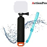 Action Pro Orange Sports Camera Floating Handle Grip, Diving Sports Camera Monopod With Thumb Screw