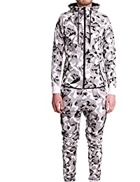 Ensemble Survêtement Jogging Tech Cabaneli Camo Blanc Metric