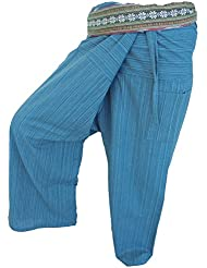 by soljo - Fisherman Pantalones Envuelva deporte Yoga Fisherpant ravon Tailandia Asia 16 colores (turquesa)