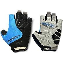 FreeMaster - Guantes de ciclismo sin dedos, color azul, tamaño Large