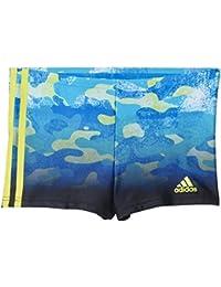 adidas I 3S LL BX Y - Bañador unisex, color azul / amarillo, talla 152
