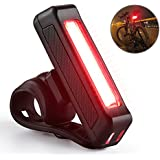 Luz Trasera Bicicleta, Linterna de Cabeza Portátil Recargable por USB, con LED Rojo de Alta Intensidad de 100 Lúmenes, Luces Trasera de Seguridad Impermeable para Casco Fivanus