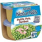 Nestlé Naturnes petits pois jambon 2x200g dès 6 mois - ( Prix Unitaire ) - Envoi Rapide Et Soignée