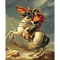 Napoleon Crossing The Alps on 20th May 1800di alta qualità Wall Art Picture, Carta, 83 x 96 cm