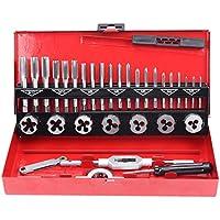 CCLIFE 32 piezas Juego de herramientas para roscar cortar tuercas y machos de aterrajar