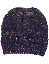 WPSLEDLOL Sombreros de Punto Otoño Invierno Hot Dot Yarn Flor Prendas de  Punto Damas Sombreros f03ecfb6675e