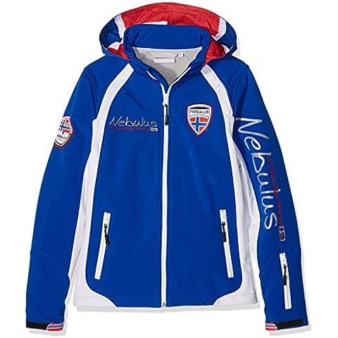 Nebulus Lifestyle giacca da sci Schweden Ski, giacca invernale softshell (Q1964) - Donna - blu - bianco - XL